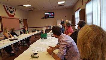Schuyler Hatt talking about handling flood damage